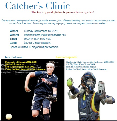 Catcher's Clinic with Kate Robinson