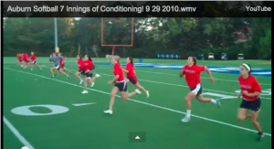 college softball conditioning