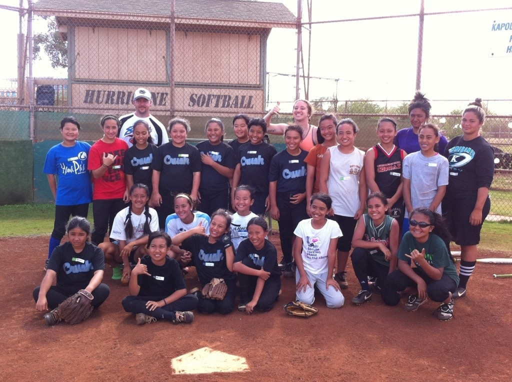 Chicago Bandits in Hawaii - Coach Darrick Brown and Megan Wiggins
