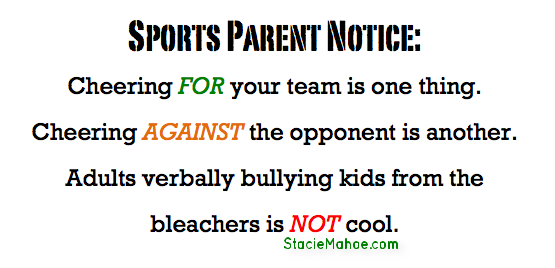 Sports Parenting - No Bullying Allowed
