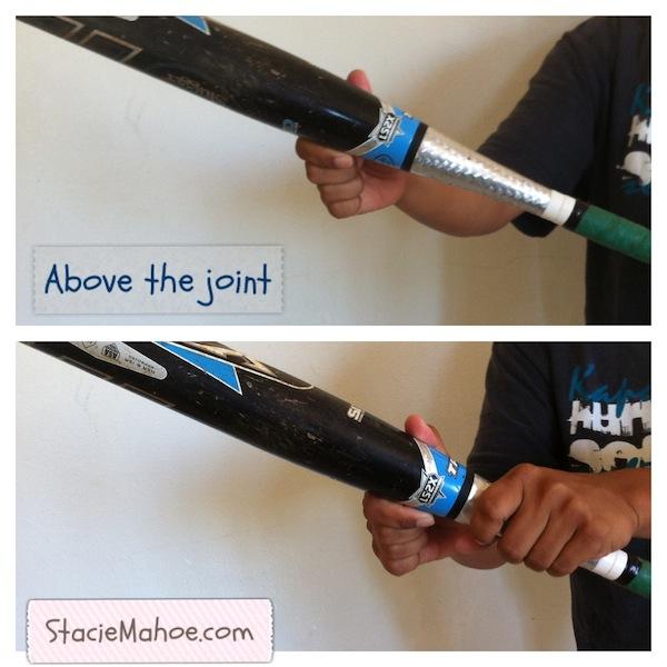 xeno softball bat above the joint