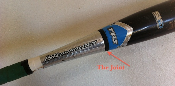 xeno softball bat joint