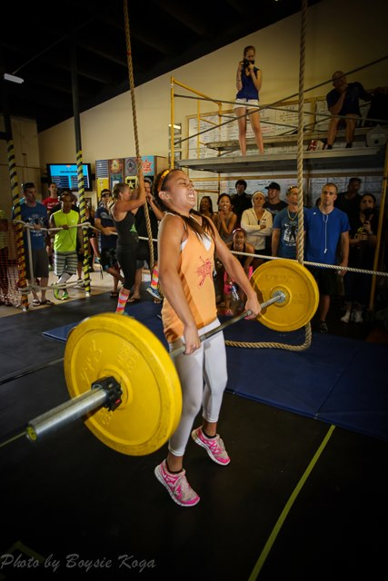CrossFit competition power clean 85#  13-year-old