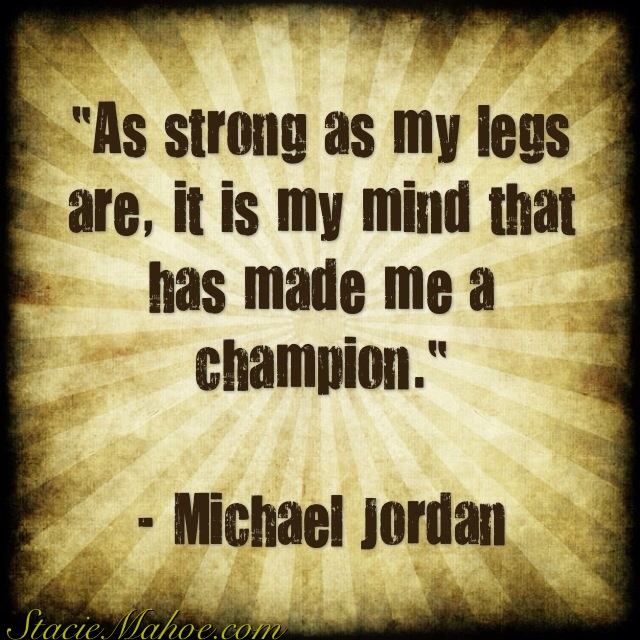 What made Michael Jordan a champion quote