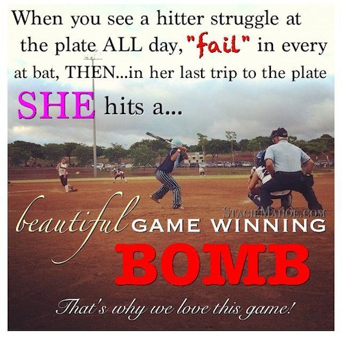 5 fastpitch softball success tips: failure, quitting, training, giving up