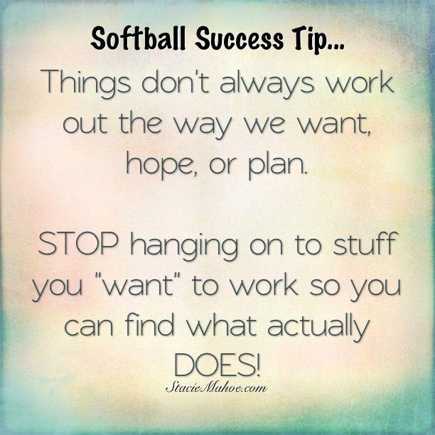 softball success tip: stop hanging on