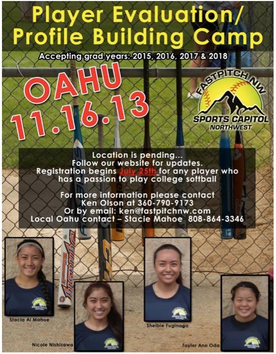 fastpitch nw Hawaii camp 2013