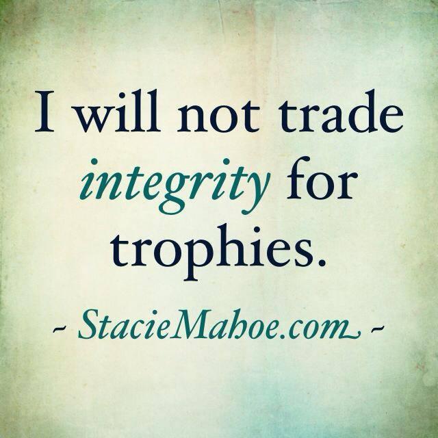 trophies vs integrity