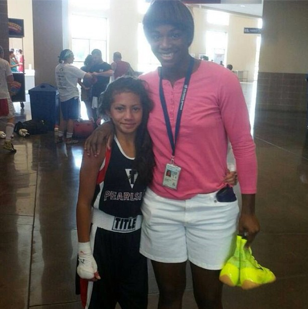 claressa shields and allicia at Ringside 2013