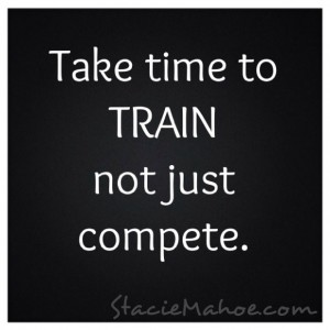take time to train