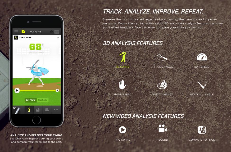 Zepp softball swing analysis training aid