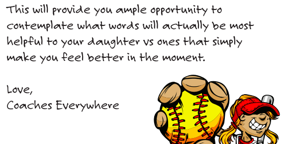 letter to softball parents