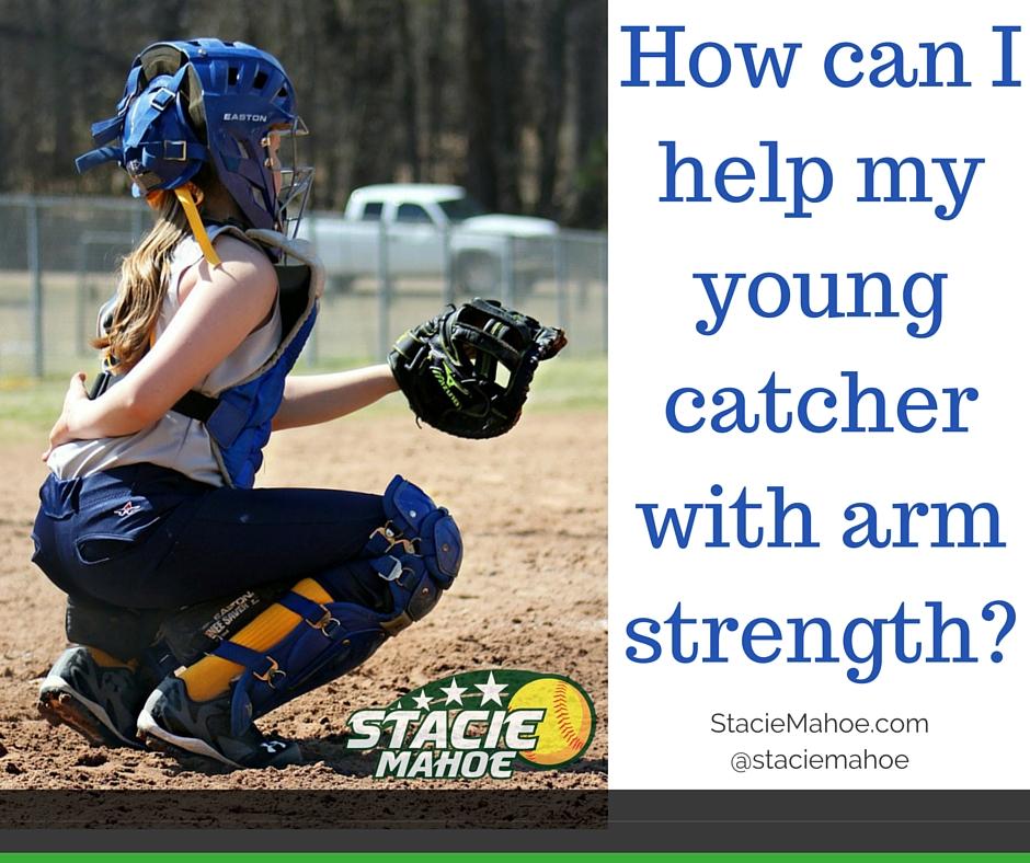 How do I help my 9yo catcher with arm strength?