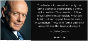 true leadership builds trust and respect