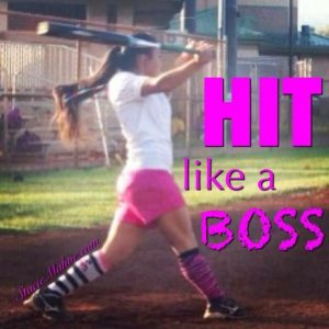 softball hit like a boss