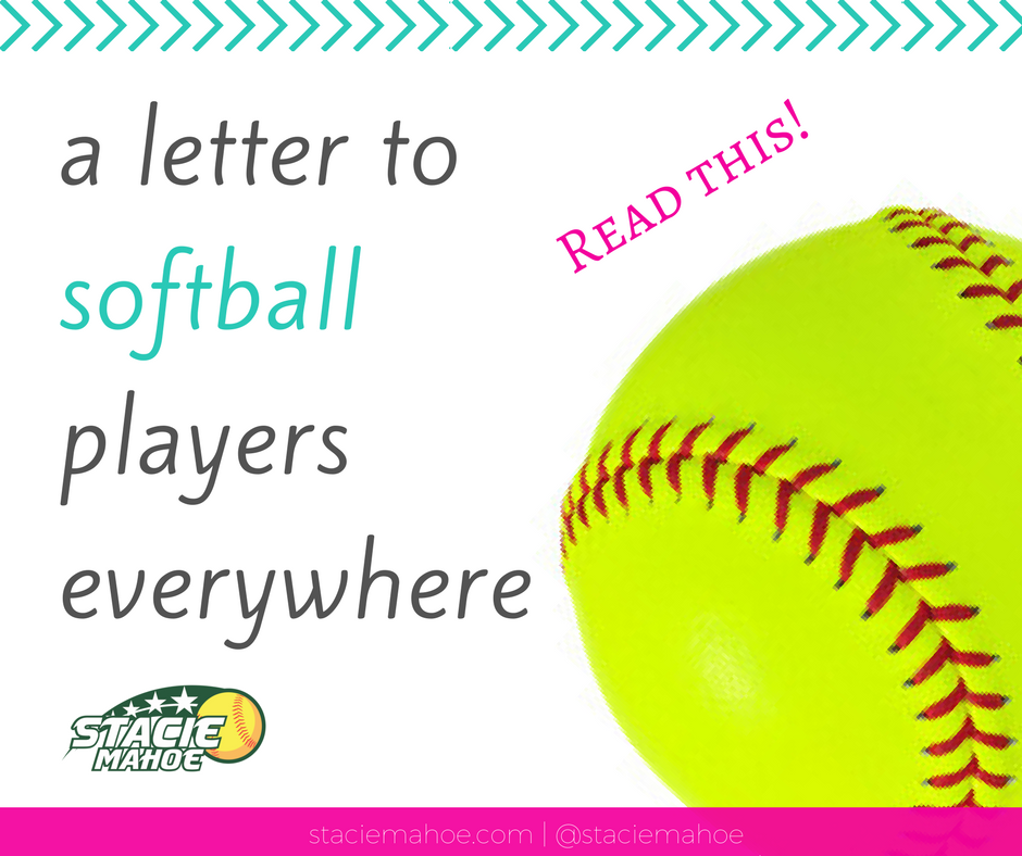 letter to softball players