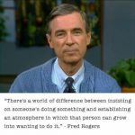mr. rogers gets it, advice for sports moms