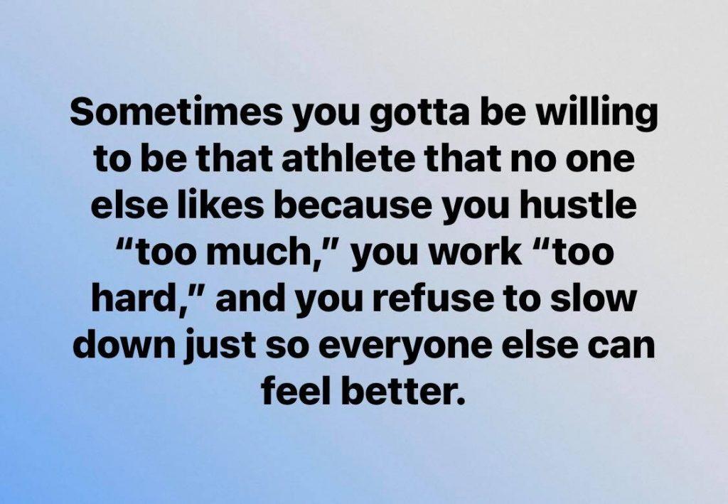 be THAT athlete